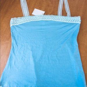 Baby Blue Sleeveless Shirt